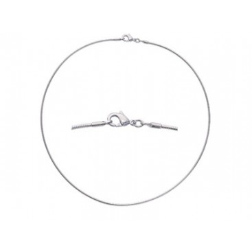 Cable collier OMEGA argent massif