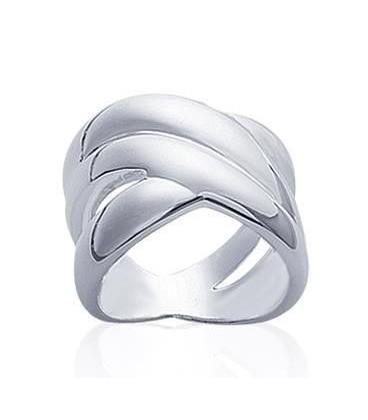 Bague femme argent massif trois beaux anneaux entrelacés