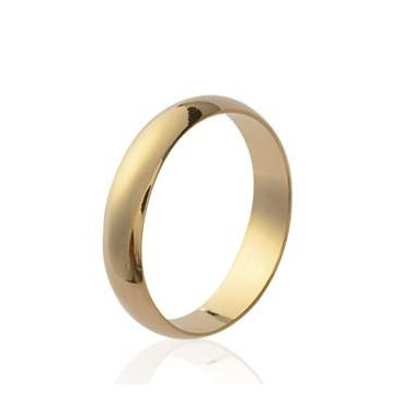 Alliance bague plaqué or simple femme homme