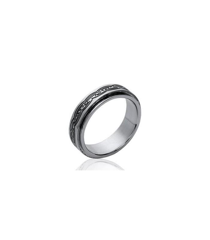 choisir le dernier dernière collection style top Bague acier homme double anneaux mobiles Romaine