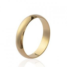 Alliance bague plaqué or simple homme
