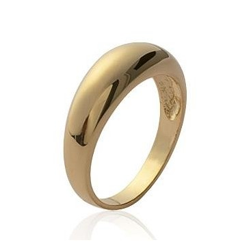 Alliance homme bague simple plaqué or