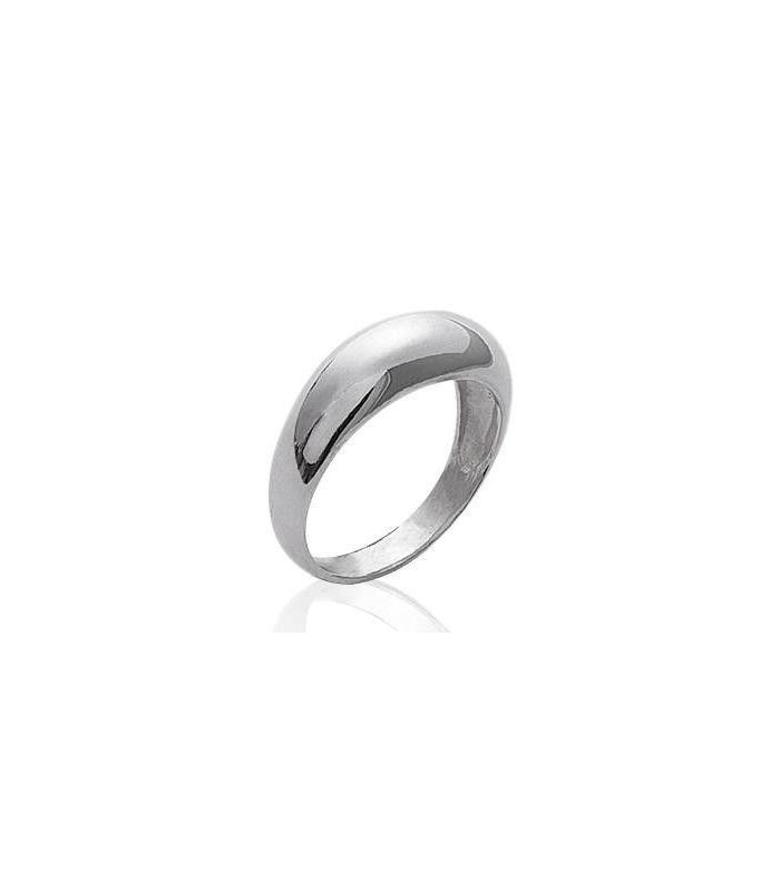 5d6038717f8 bague alliance anneau simple légèrement bombée argent massif