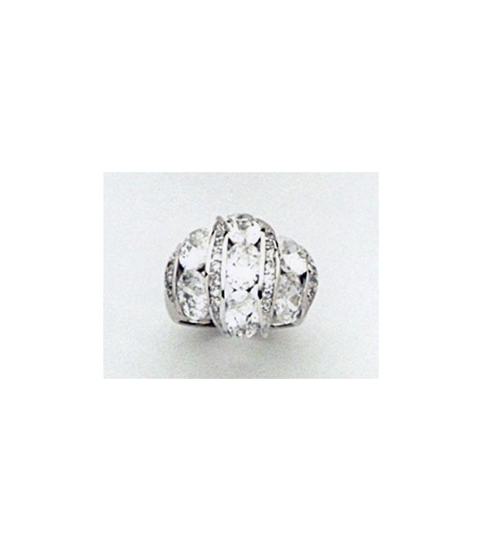 grosse bague argent zirconium