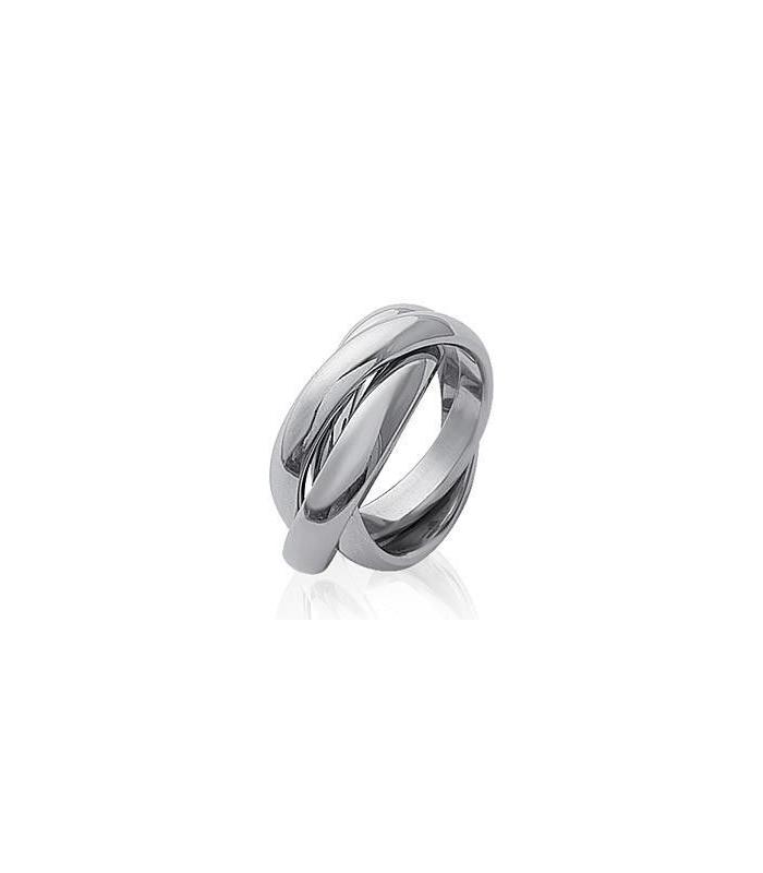 b1f73ef40b3b3c trois beaux anneaux acier entrelacés pour homme femme mixte