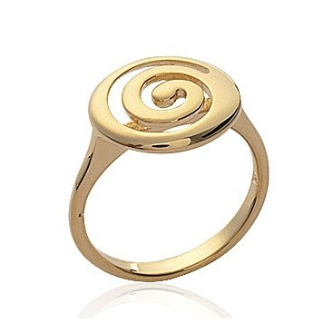 Bague plaqué or tourbillon spirale originale