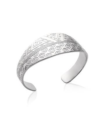 Gros bracelet argent massif rigide ouvrant