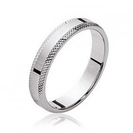 Bague alliance argent massif plate inspiration tribale
