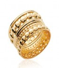 Bague plaqué or large anneau reverso