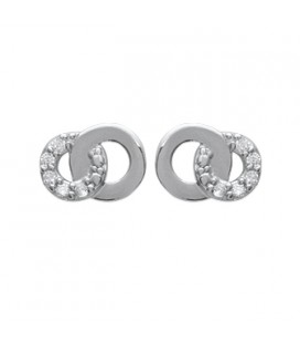 Boucles d'oreilles argent massif de zirconium