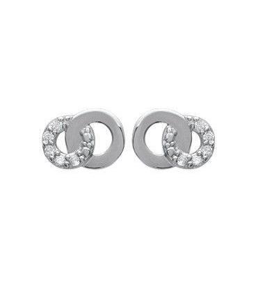 Boucles d'oreilles argent massif oxydes de zirconium