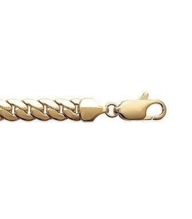 Bracelet gourmette plaqué or