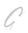 Beau bracelet en chute de perles d'argent massif ouvert