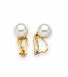 Clips boucles d'oreilles perle de MAJORQUE pour oreilles non percées