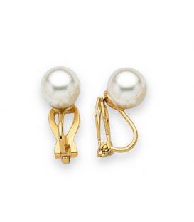 Clips pour oreilles non percées boucles d'oreilles perle de MAJORQUE