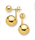 Boucle d'oreille plaqué or double boules