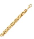 Bracelet plaqué or maille fantaisie royale
