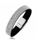 Bracelet cuir strass