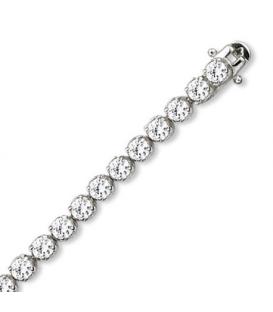 Bracelet argent massif oxyde de zirconium rond serti