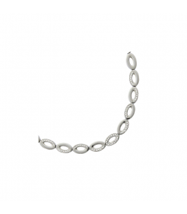 Collier acier maillons ovalisés zirconium
