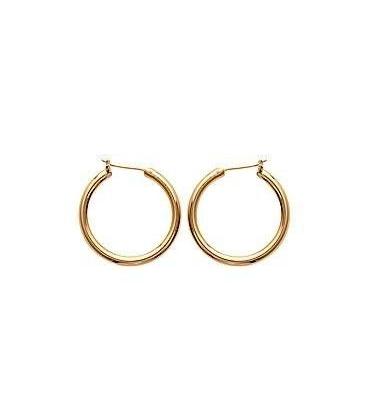 Boucles d'oreilles créole plaqué or