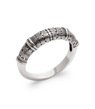 Bague anneau tribal argent