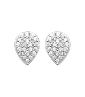 Boucles d'oreilles argent massif goute de zirconium