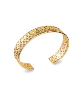 Bracelet manchette rigide plaqué or byzantin